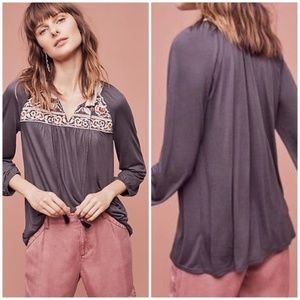 NWT Anthropologie One September Embroidered Top